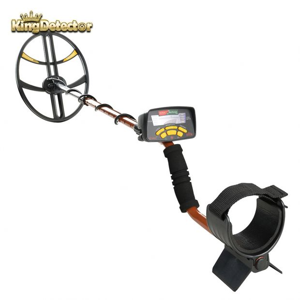Metal Detector Treasure Hunter Gold Finder for Professiona Waterproof Discover Sport Metal Detector with Big Coil, MD-6350 Plus