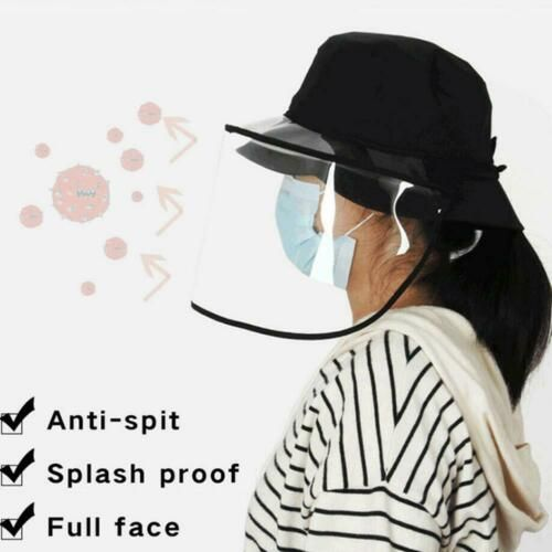 Fisherman Hat With Protective Clear Mask Saliva-proof Dust-proof Sun Visor Cap