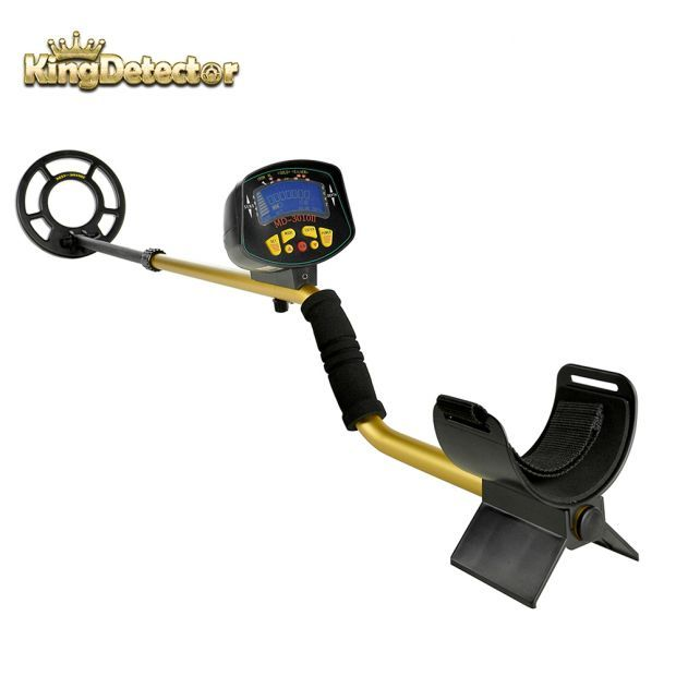 Metal Detector Treasure Pinpointer Gold Finder Upgraded Waterproof for Hobby Coin Searching MD-3010II Color Gold