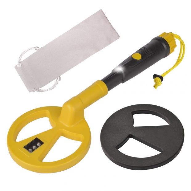Fully Waterproof Underwater Metal Detector for Kids and Adults Mini Handheld Pinpointer Probe Pulse Induction with LED MD-780