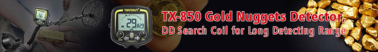 TX-850 Gold Nuggets Detector, DD Search Coil for Long Detecting Range